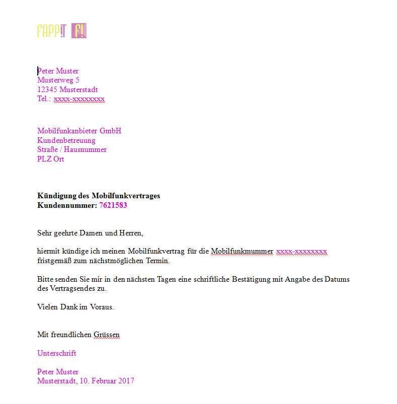 Beschwerdebrief Muster Telekom