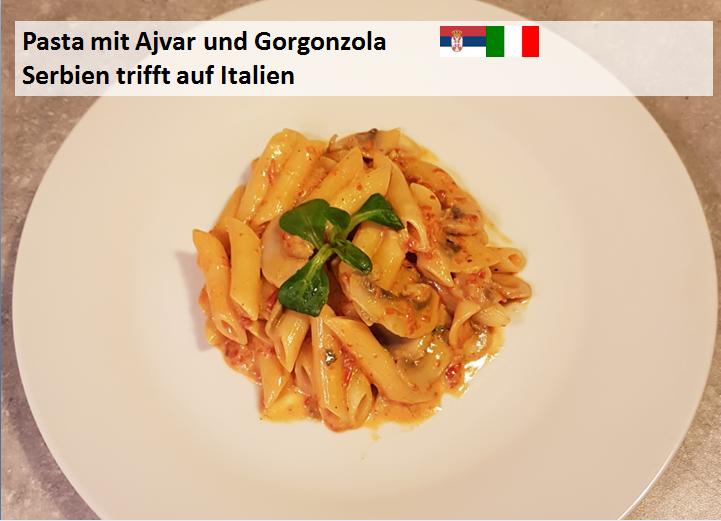 Nudeln mit Ajvar und Gorgonzola - Serbien trifft auf Italien ...